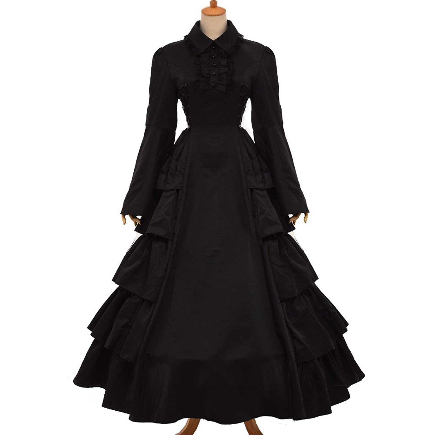 Steampunk Dresses | Women & Girl Costumes Victorian Gothic Ball Gown Dress Cosutume  AT vintagedancer.com