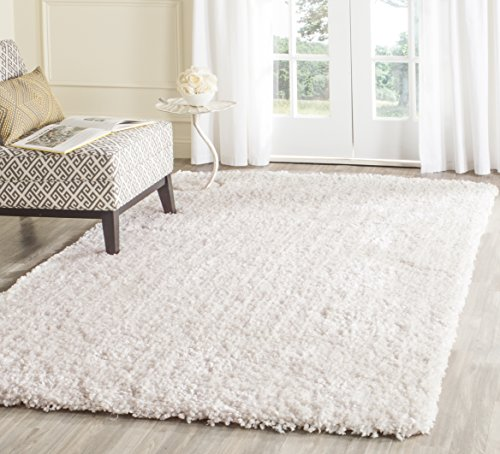 Safavieh Popcorn Shag Collection SG267A Handmade Ivory Polyester Area Rug 4 x 6