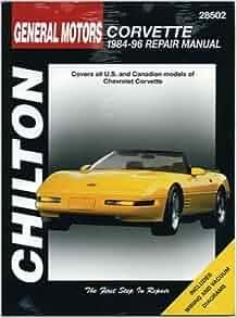 General motors corvette 1984 96 repair manual 28502 for General motors chevrolet customer service
