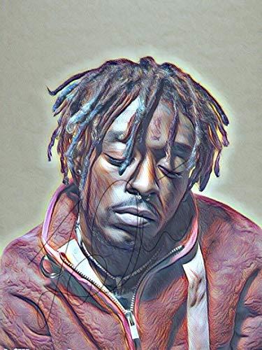 (Lil Uzi Drawing Print Poster Hand Drawn Coloured Pencil Rapper #LILUZI1)