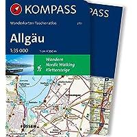 Allgäu (KOMPASS-Wanderkarten-Taschenatlas, Band 2751)