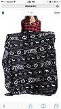 Victoria Secret Pink Blanket Best Deals - HUGE VICTORIA SECRET REVERSABLE BLANKET - PINK DOG AND SNOWFLAKE BLACK