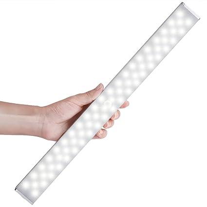 LED Closet Light, Newest Version Rechargeable 62 LED Motion Sensor Closet  Light Wireless Under