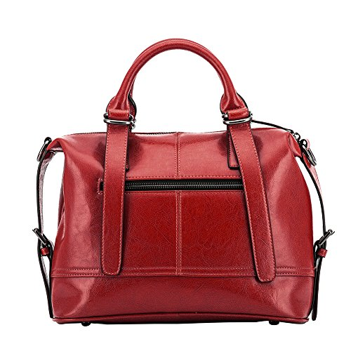 Bag Ladies Pure Tote Bags Crossbody Leather Purses Handbags Shoulder Leather Top Handle Hobo Red YYHr8xq