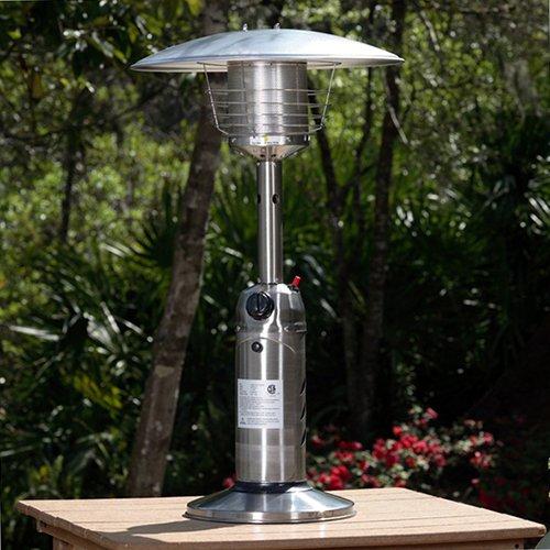Amazon.com : AZ Patio Heaters HLDS032 B Portable Table Top Stainless Steel Patio  Heater, Stainless Finish : Portable Outdoor Heating : Patio, Lawn U0026 Garden