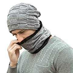 Fantastic Zone 2-Pieces Winter Beanie Hat Scarf Set Warm Knit Hat Thick Fleece Lined Winter Hat & Scarf For Men WomenAbout the product: - Dual layers design. Super thick and chunky acrylic knit construction keeps you warm. The soft fleece...