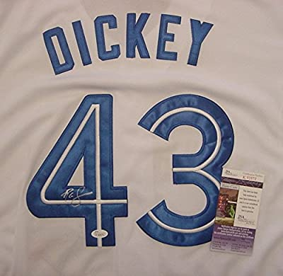 R.A. Dickey Toronto Blue Jays Autographed White #43 Jersey JSA COA