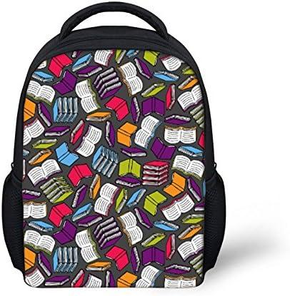 Funny Book Print Mini Backpack 2 Sets Toddler School Bag Kindergarten Children