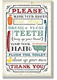 The Stupell Home Decor Collection Wash Your Hands Typography Multicolored Bathroom Wall Plaque