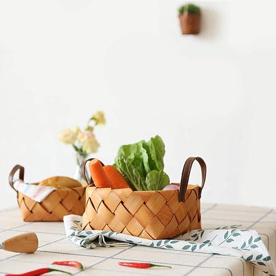Cesta de alimentos para frutas, cesta tejida a mano, cesta de ...