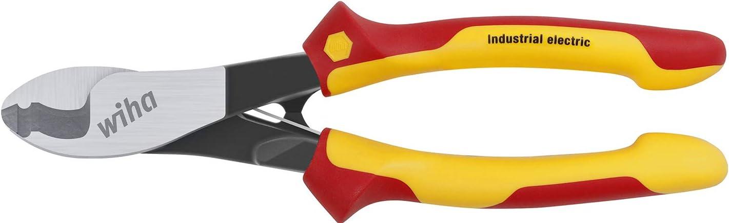 und ausschaltbarer /Öffnungsfeder in Blister Wiha Kabelschneider Industrial electric mit ein 180 mm 43665