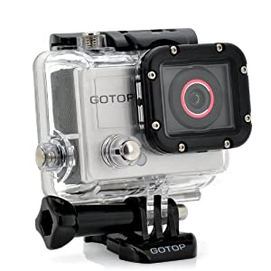 """Full HD Sports Camera """"GOTOP"""" - 16MP, 1.5 Inch Screen, 120FPS, 140 Degree Wide Lens, 5 Mounting Accessories"""