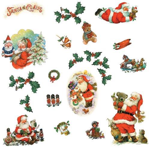 Claus Wall Santa (RoomMates RMK1112SCS Santa Claus Peel & Stick Wall Decals)