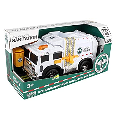 Daron NYC Sanitation Truck with Lights & Sounds 2020 New: Toys & Games