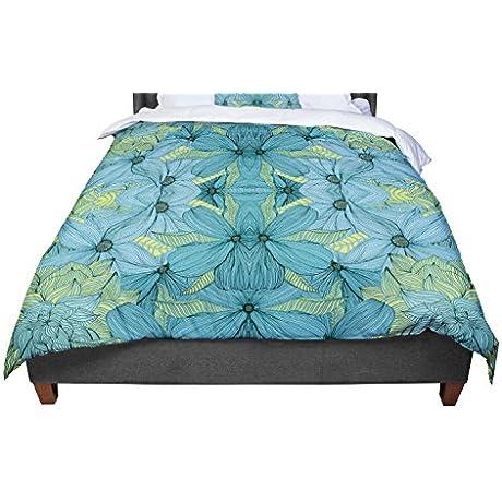 KESS InHouse Akwaflorell Blues In Blue Twin Comforter 68 X 88