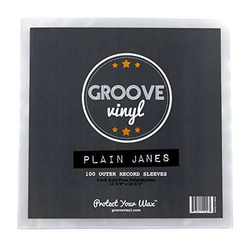 Disc 12 Vinyl Inch Single (Groove Vinyl 12 Inch Outer Record Sleeves (100 Pack))