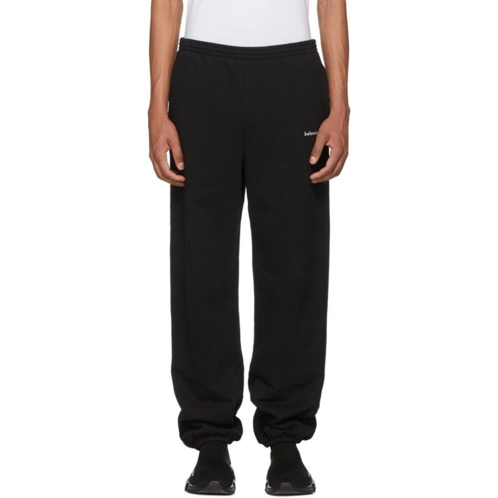 (バレンシアガ) Balenciaga メンズ ボトムスパンツ スウェットジャージ Black Logo Lounge Pants [並行輸入品] B07D15F622 XS