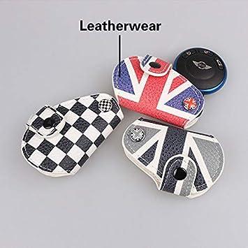 Layer Leather Key Case for Mini Cooper R55 R56 R57 R58 R59 R60 R61 Checker