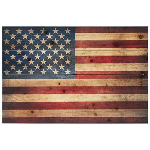 Empire Art Direct American Flag Digital Print on Solid Wood Wall Art, 16