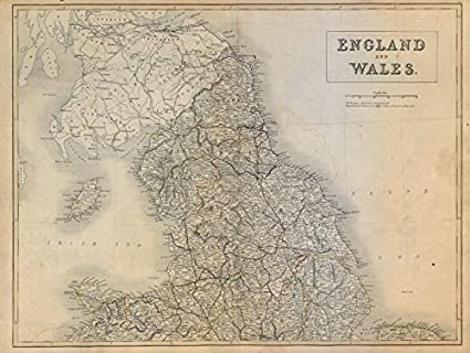 Map Of England And Wales.Amazon Com England And Wales North Sheet Railways Sidney Hall
