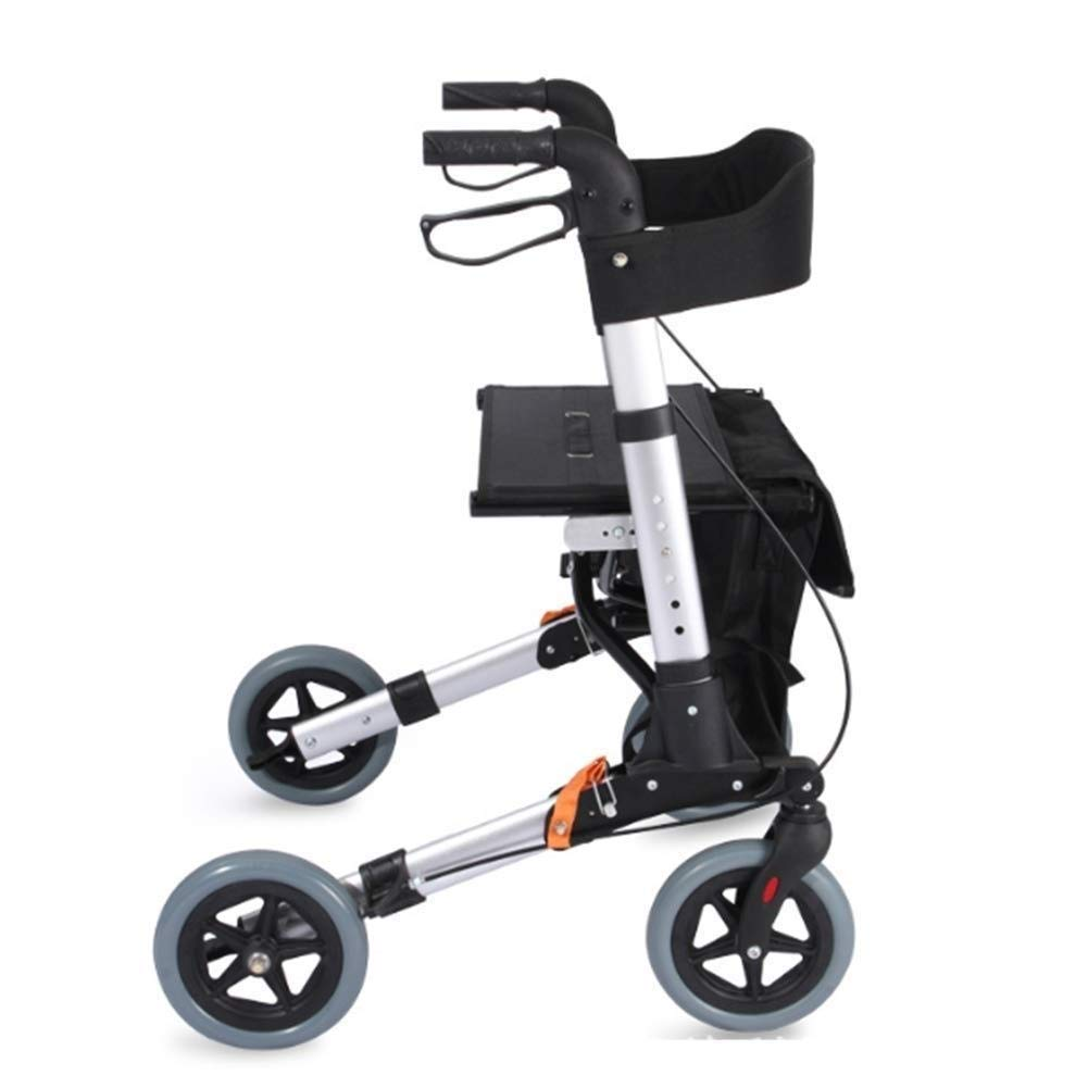 Drive Four Wheel Walker Rollator,Adjustable Handle Height Includes Basket with Lockable Brakes Seniors Auxiliary Walking Safety Walker by YL WALKER (Image #6)