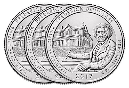 Unc No Coins (2017 P D & S America the Beautiful Quarters Frederick Douglass National Historic Site Clad Business Strike Set UNC)