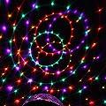 uxcell AC100V-240V US Plug Disco DJ Stage Lighting RGB Crystal LED Magic Ball Effect Light Digital Lamp w Remote Controller