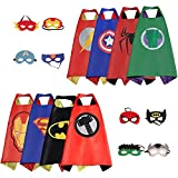 Mizzuco Cartoon Dress up Costumes Satin Capes with Felt Masks for Boys