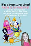 10 4x6 Adventure Time Personalized Birthday Invitations