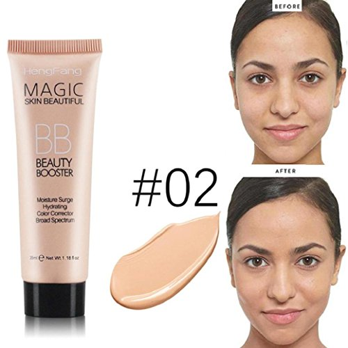 (Liquid Foundation Concealer BB Cream ,Wondere Concealer/Isolation/Whitening/Bright Lasting Blemish Balm Coverage Makeup Base ... (02) )