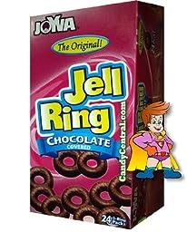 Joyva Jell Rings,  Chocolate Covered, 3 Ring Pack, 1.35-ounces (Pack of 24)