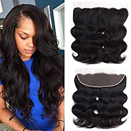 Sweetie Hair Brazilian Virgin Hair Body Wave 13×4″ Lace Frontal Closure Natural Color 10 Inch