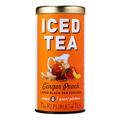 - Republic Of Tea, Iced Tea Pouches Ginger Peach Black, 8 Count