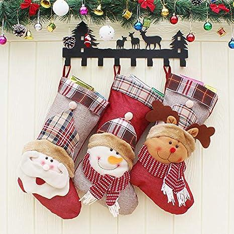 b1388542497428 JAMILA Decorazioni di Natale 2018 di Natale Calza della Befana Babbo Natale  Calzini e Calzettoni Regalo