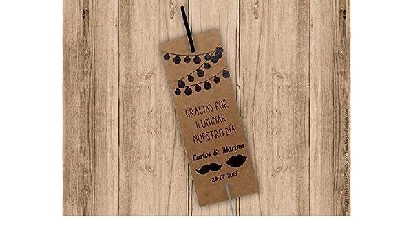 Porta bengalas para bodas en papel fraft. Bengala NO incluida. Pack 25 unidades. Tarjetas para bengalas.: Amazon.es: Handmade