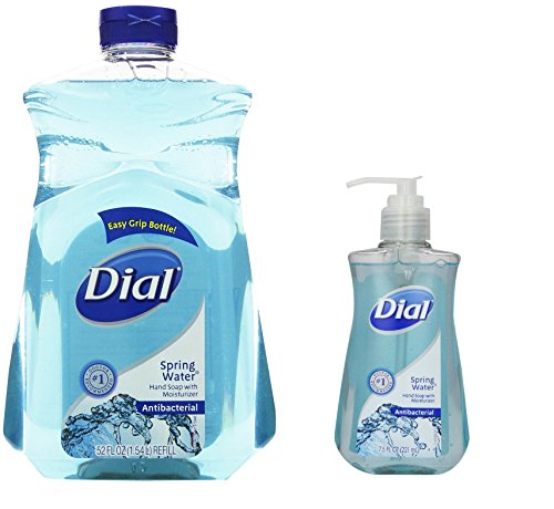 Dial Antibacterial Hand Soap, 52 Oz Refill and 7.5 Oz Pump (Spring Water)