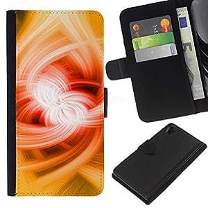 [Neutron-Star] Modelo colorido cuero de la carpeta del tirón del caso cubierta piel Holster Funda protecció Para Sony Xperia Z2 D6502 [Magic Power Resumen Potente]