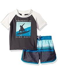 OshKosh baby-boys Baby Infant Surf Department Short Sleeve Rash Guard Set