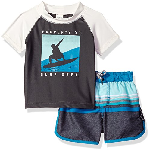Osh kosh baby boys 39 infant surf department short sleeve for Baby rash guard shirt