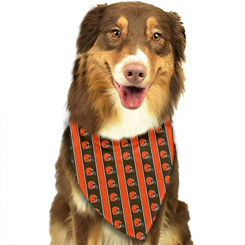 Sorcerer Custom Dog Triangle Pet Scarf Cleveland Browns 100% Polyester Dog Bandanas Printing Triangle Bibs Set Scarfs Accessories for Dogs Cats Pets -