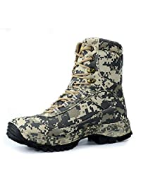 CUNGE Men's Camo Hunting Boots High-top Waterproof Outdoor Tactical Boot Breathable Fishing Climbing Desert Combat Boots
