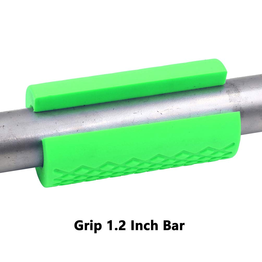 Gray, 1 Bar Greententljs Dumbbell Bar Grips fit Barbell Bar and Dumbbell Handle Workout Grips for Weight Lifting Fitness Training Bodybuilding 2 Thick Grips