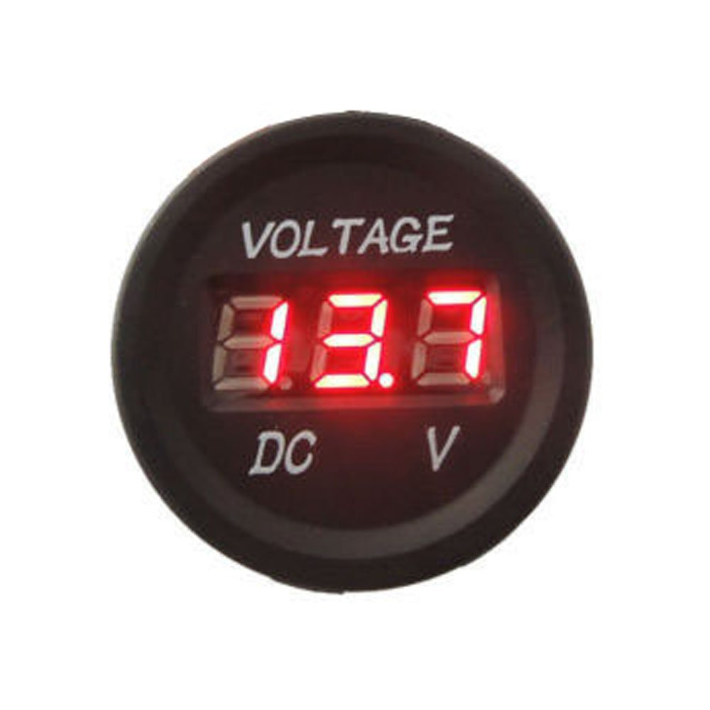 PerfecTech 12-24V DC Voltmeter LED Digital Display Vm Waterproof for Automobiles Motorcycle Truck Boat Marine (Blue) Koscar Store
