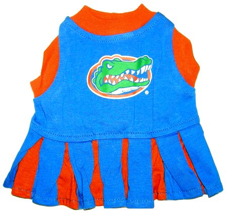 Florida Gators Dog Cheer Leading Dress & Leash Set Size MD