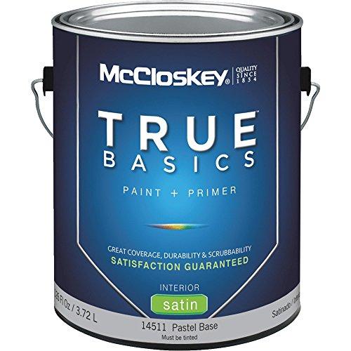 Mccloskey True Basics 14511 Latex Paint 1 gal Pastel Base - Case of 4 1 Gallon Pastel Base