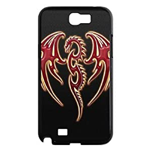 ALICASE Diy Design Back Case Red Dragon for Samsung Galaxy Note 2 N7100 [Pattern-1]