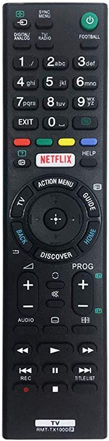 RMT-TX100D - Mando a Distancia de Repuesto para televisor Sony Smart TV para Mando a Distancia para Sony LCD/LED TV (Botón Netflix) RMT-TX101J RMT-TX102U RMT-TX102D, No Se Requiere Configuración: Amazon.es: Electrónica