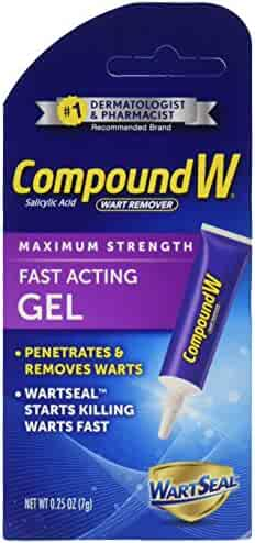 Compound W Salicylic Acid Wart Remover | Maximum Strength Fast Acting Gel | 0.25 oz | (Value Pack of 2)
