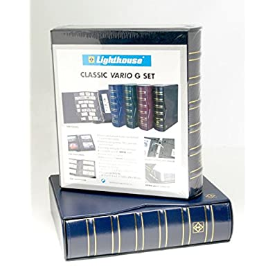 Lighthouse Vario-G Classic Binder with Slipcase, Royal Blue: Toys & Games