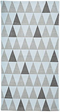 Bloomingville Cotton Rug, Light Blue and Grey